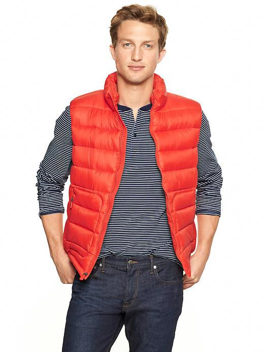 Athletic puffer vest. Available in multiple colors. Gap. $69.95.