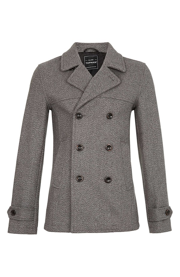 Topman Skinny fit double-breasted pea coat. Nordstrom. $170.