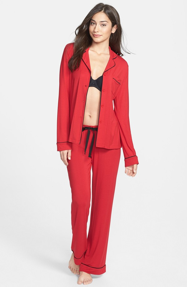PJ Luxe Modal Pajamas. Available in multiple colors and patterns. Nordstrom. $98.