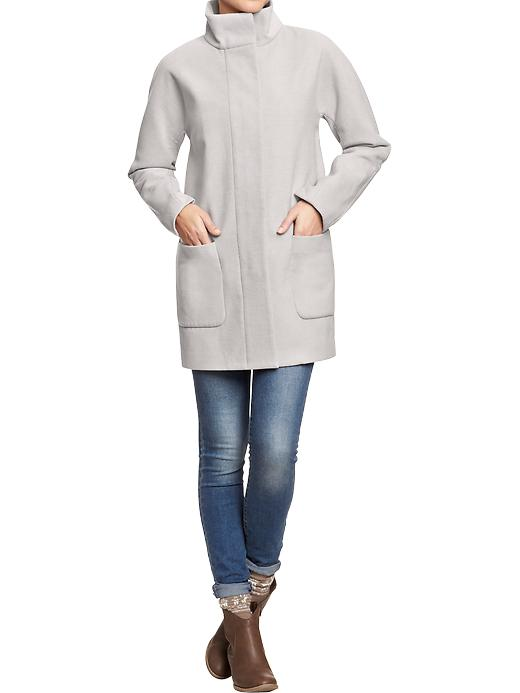 Solid blanket coat. Old Navy. Also available in black or wine. Was: $74.94. ow: $39.97