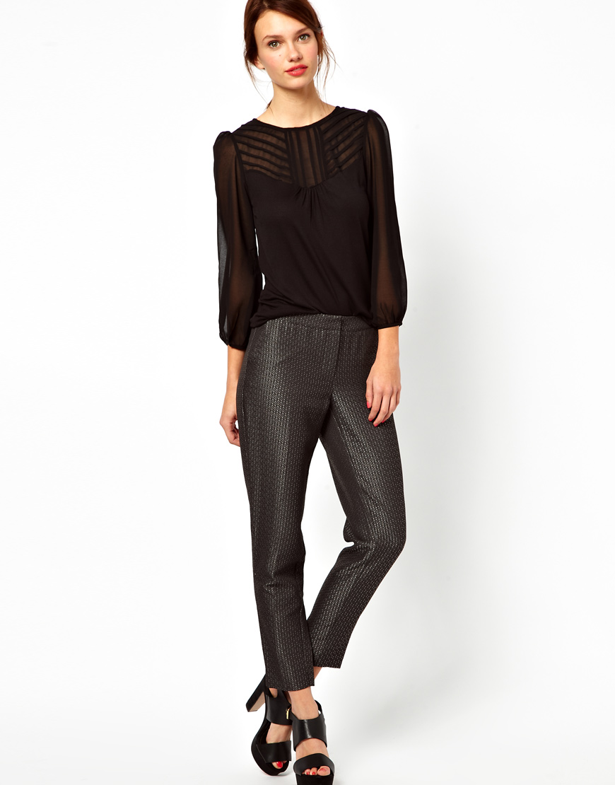 Warehouse Jacquard pants. ASOS. Was: $86.07 Now. $58.08