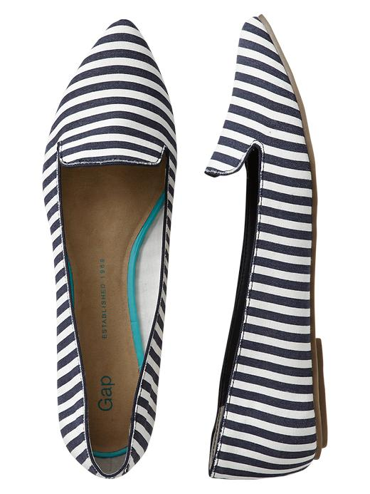 Printed pointy flats. Multiple colors available. Gap. $35. Additional 35% off at Gap now. CODE: TREAT.