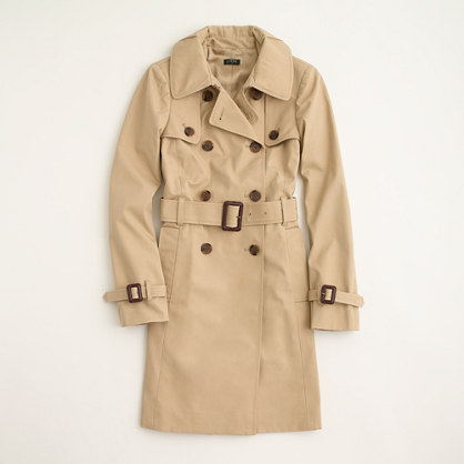 Factory belted trench coat. JCrewOutlet Was: $198. Now: $99.