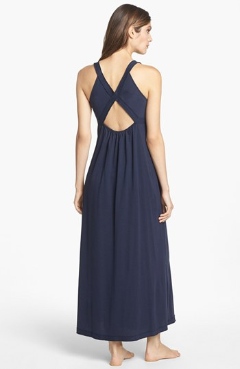 Donna Karan Pima cotton nightgown. Available in navy or white. Nordstrom. $135.