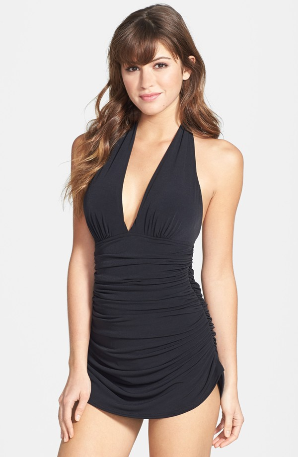 Magic Suit by Miraclesuit. Yvonne halter one piece. Nordstrom. $168.