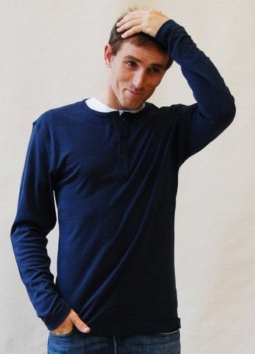 J-Pod Henley. Available in multiple colors. FiveBamboo. $30.