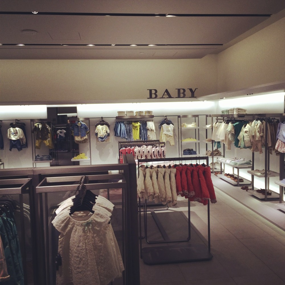 Zara baby is the second largest Zara Baby in the country second only to the Manhattan store and just by a few feet, at that.