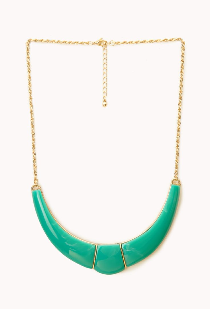 Curved Bib necklace. Available in multiple colors. Forever 21. $7.80.