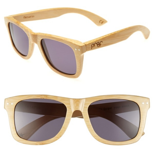 Ontario 55 mm polarized bamboo sunglasses. Lenses available in multiple colors. Nordstrom. $90.