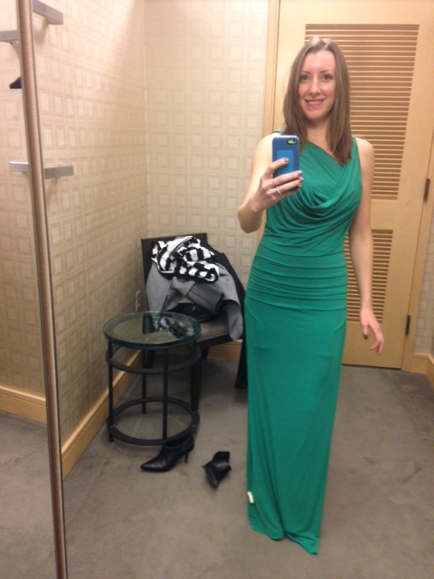 The dream client. Sending over a text from the dressing room while trying on a dress I recommended. Love!