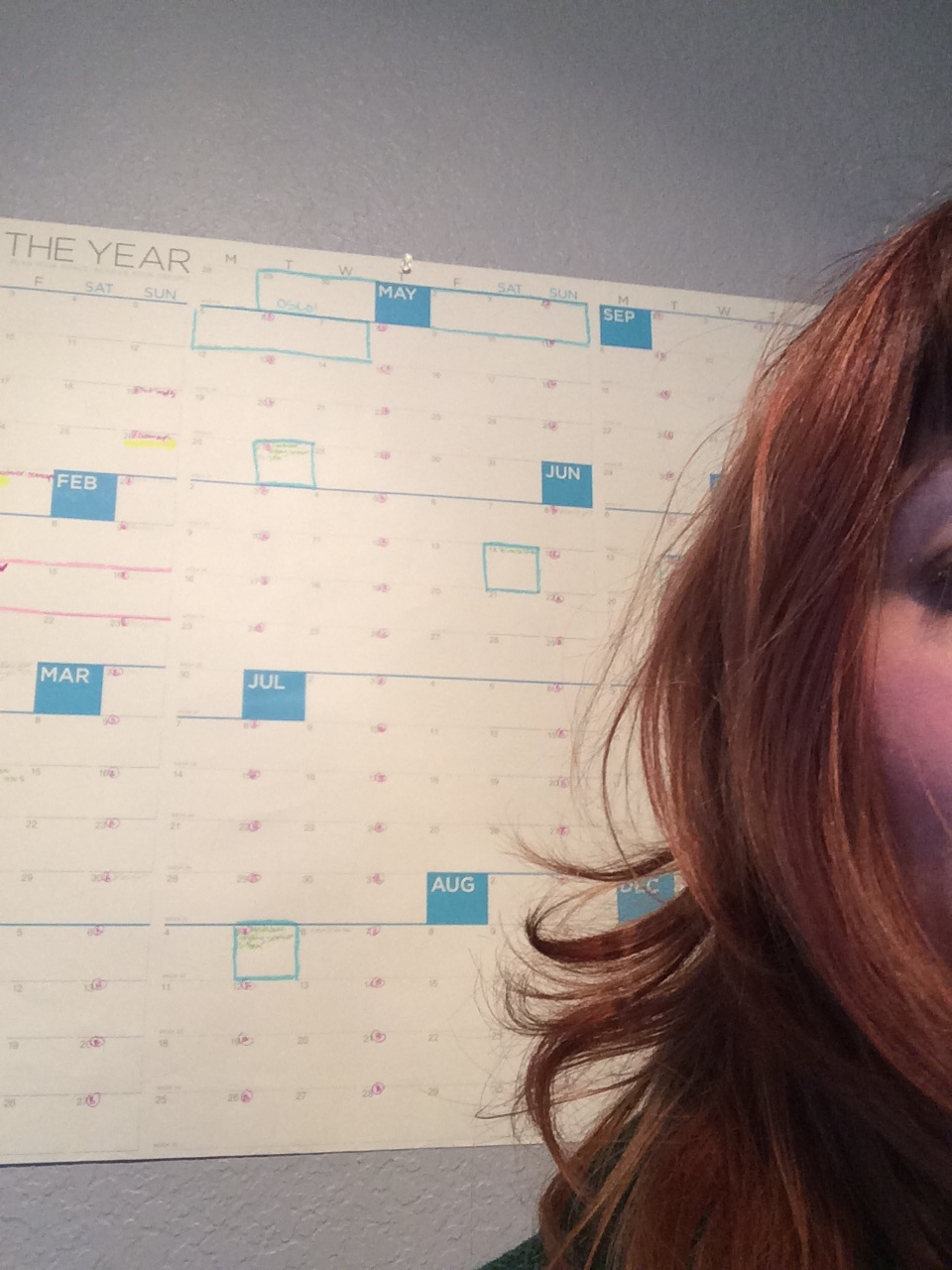Me and my calendar of dreams.