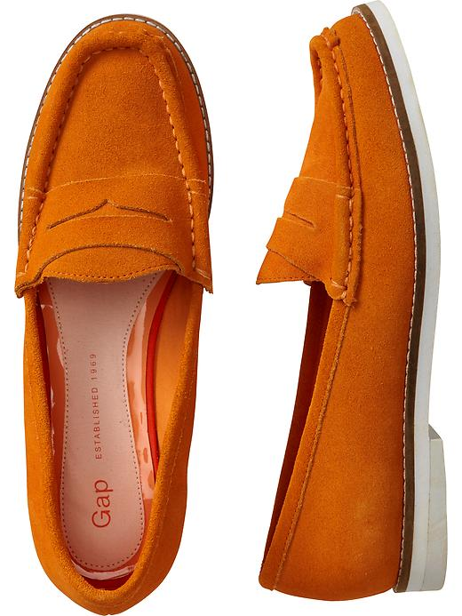 Suede loafers. Available in multiple colors. Gap. $59.95.