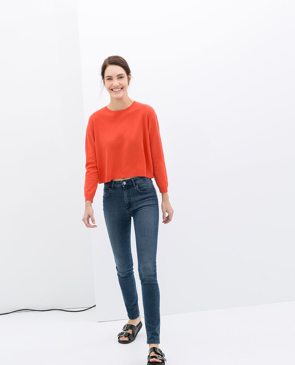 Cropped sweater. Available in multiple colors. Zara. $16.90.