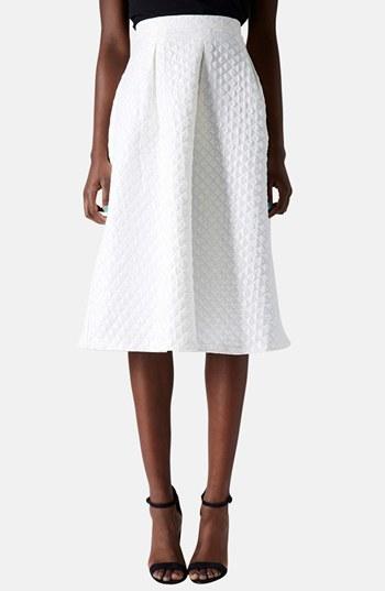 Topshop Diamond jacquard midi skirt. Nordstrom. $96.