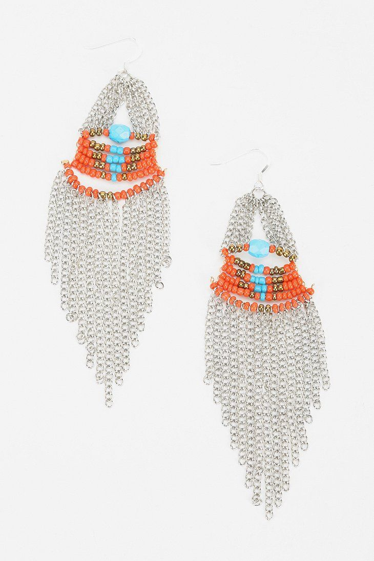 Dripping chains earrings. Urban Outfitters. Was: $18. Now: $14.99.