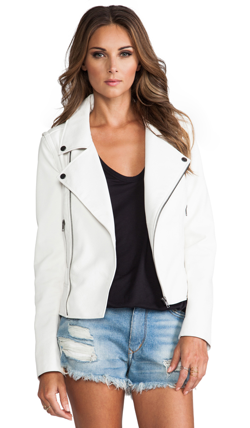 Lovers and Friends Babe Moto jacket. Available in black, white, nude. Revolve. $217.
