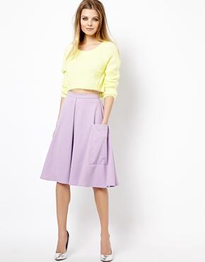 Midi Skirt in ponte with pocket detail. ASOS. $52.68.
