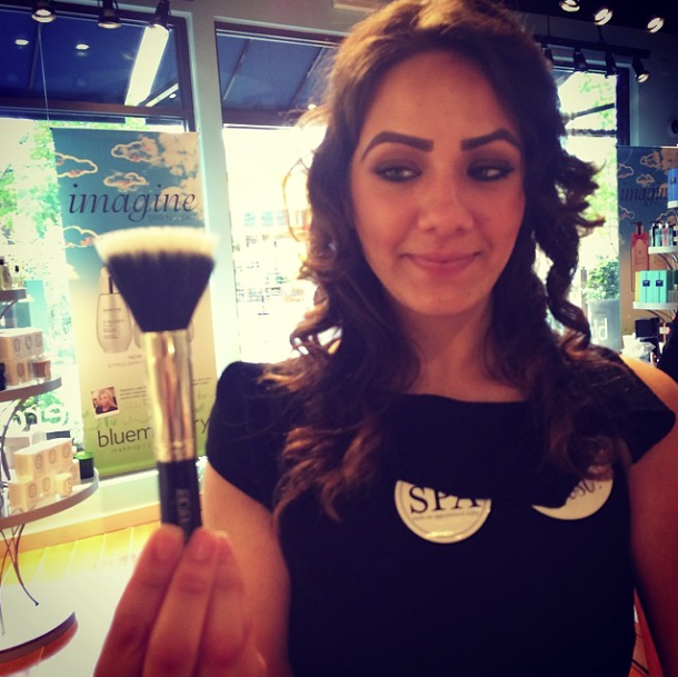 Bluemercury District Manager Sarah shows off her favorite brush.