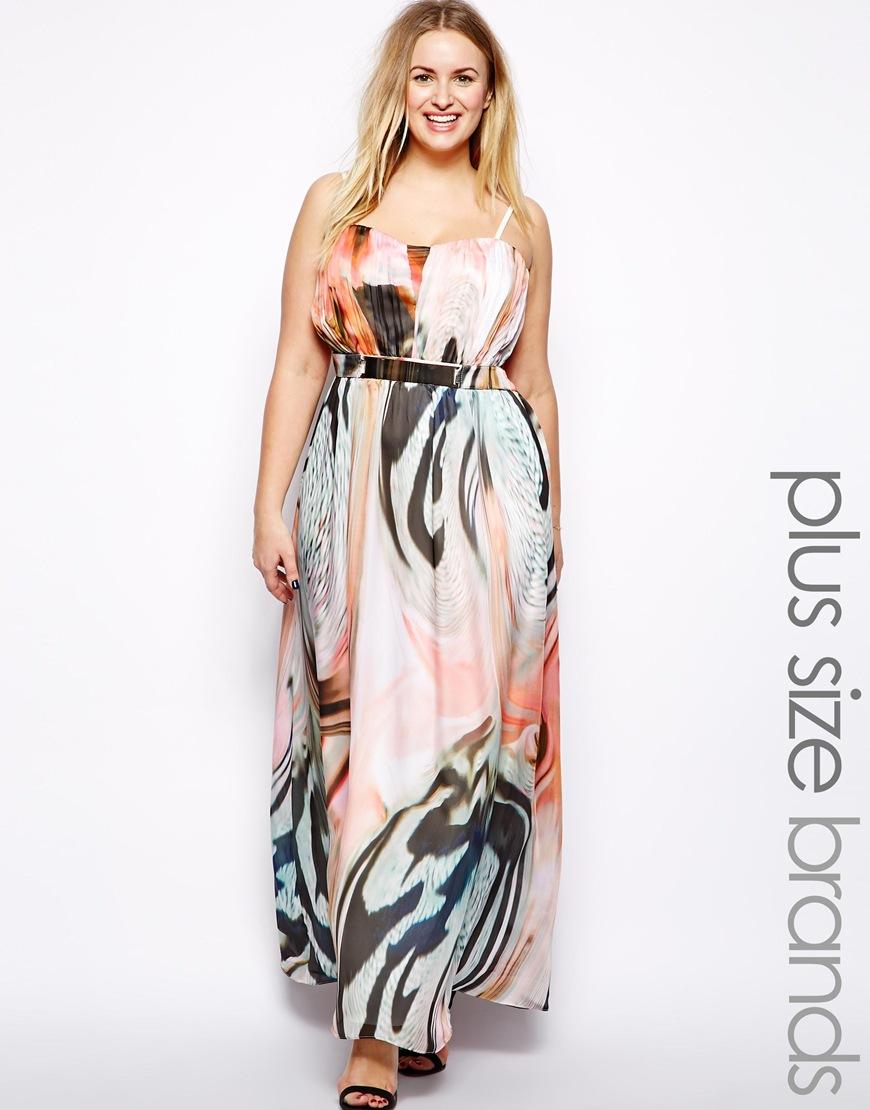 Little Mistress Marble Print Plus Size Maxi dress. ASOS. $112.88.