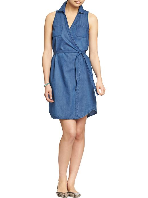 Chambray wrap dress. Old Navy. Was: $34.94 Now: $27.