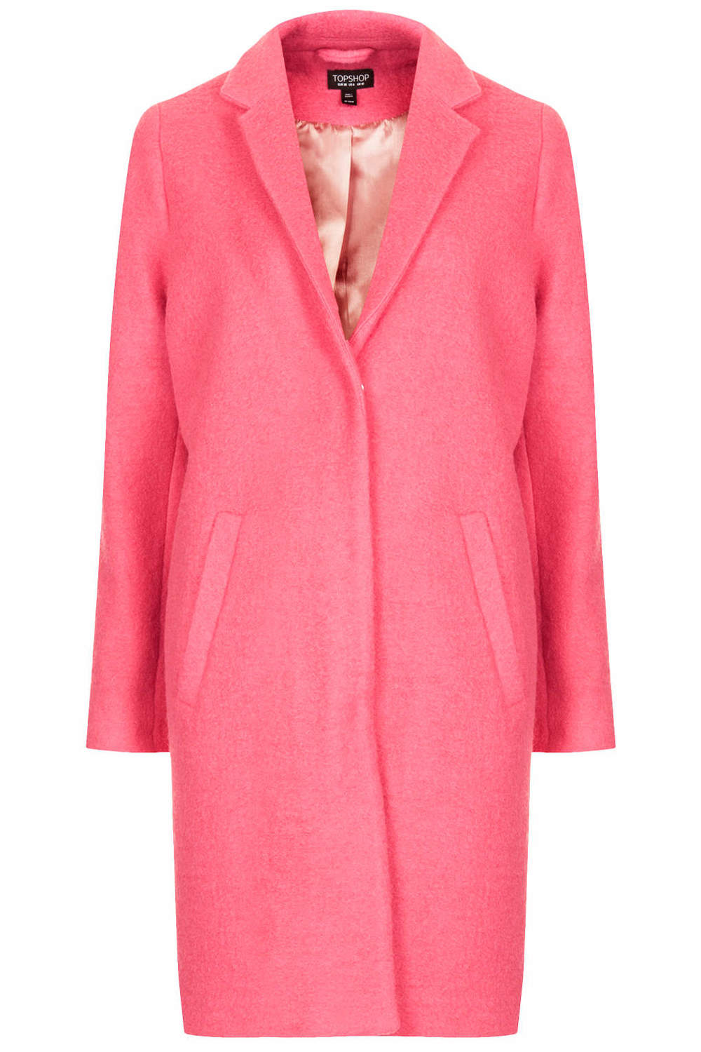 Boiled Wool boyfriend coat. Topshop. $196.