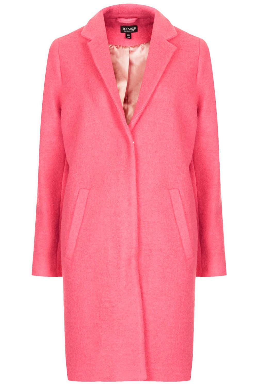 Boiled Wool boyfriend coat. Topshop. $196.