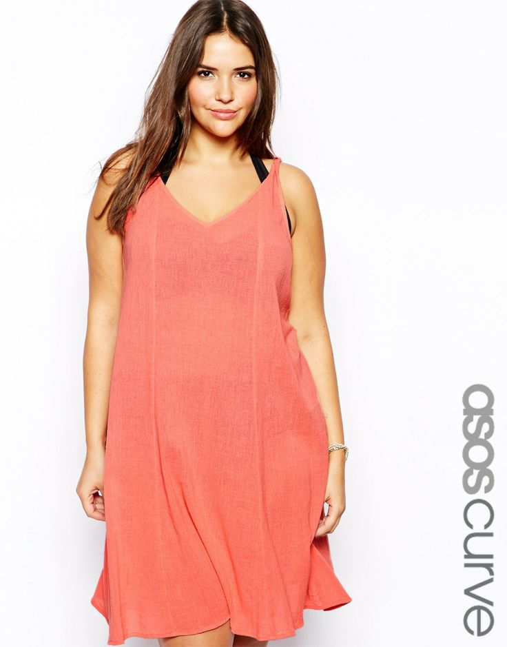 ASOS Curve Beach Swing Dress in Cheesecloth. Asos.com. Also comes in Cobalt. $47.64.