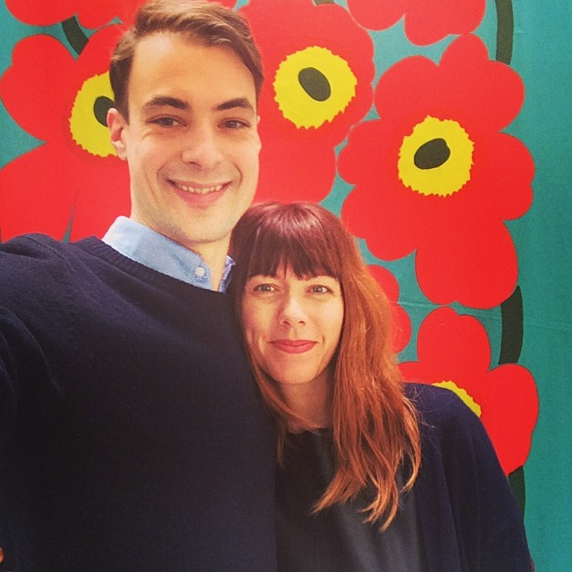 With the husband @ the Marimekko Outlet in Helsinki, Finland. Pure bliss.