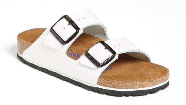 Birkenstock Arizona Soft Footbed patent leather sandal. Nordstrom. $129.95.