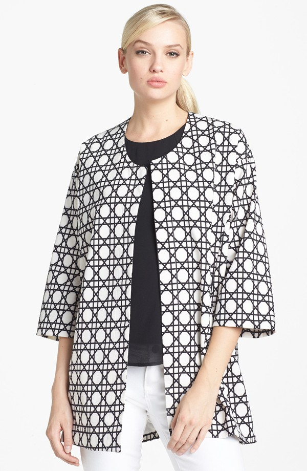 Harlowe and Graham Graphic Print swing coat. Nordstrom. $108.