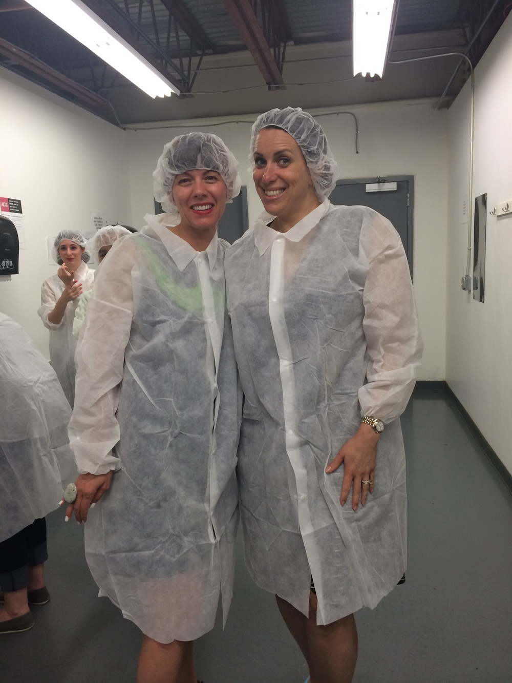 All dressed up for a tour of the JCOCO factory floor.