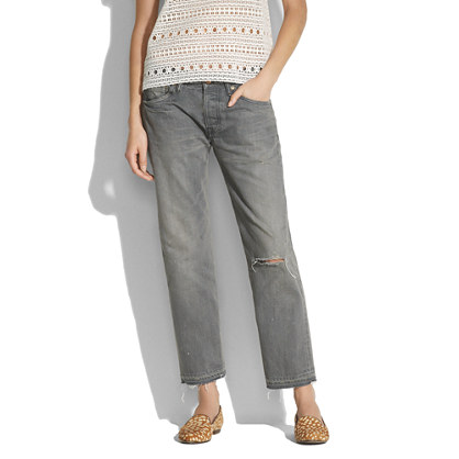 Chimala grey distressed ankle pants. Madewell. $483.
