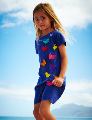 Mini Boden (1 1/2- 12 years) Fluttery Applique dress. BodenUSA. Was: $44 Now: $30.80.