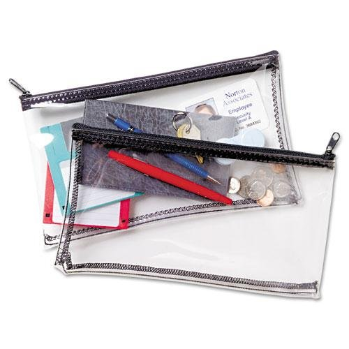 MMF Industries vinyl zipper wallet. Amazon. $6.57.