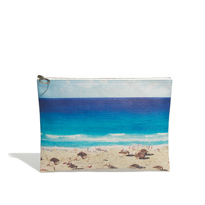Large zip pouch in beachday. Madewell. $32.