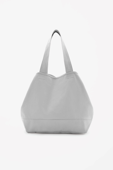 Cotton beach bag. Available in grey, yellow. COS. $45.