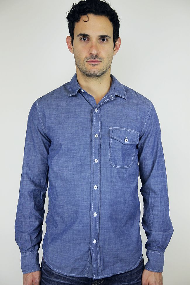 Save Khaki United Chambray work shirt. Ian. $140.