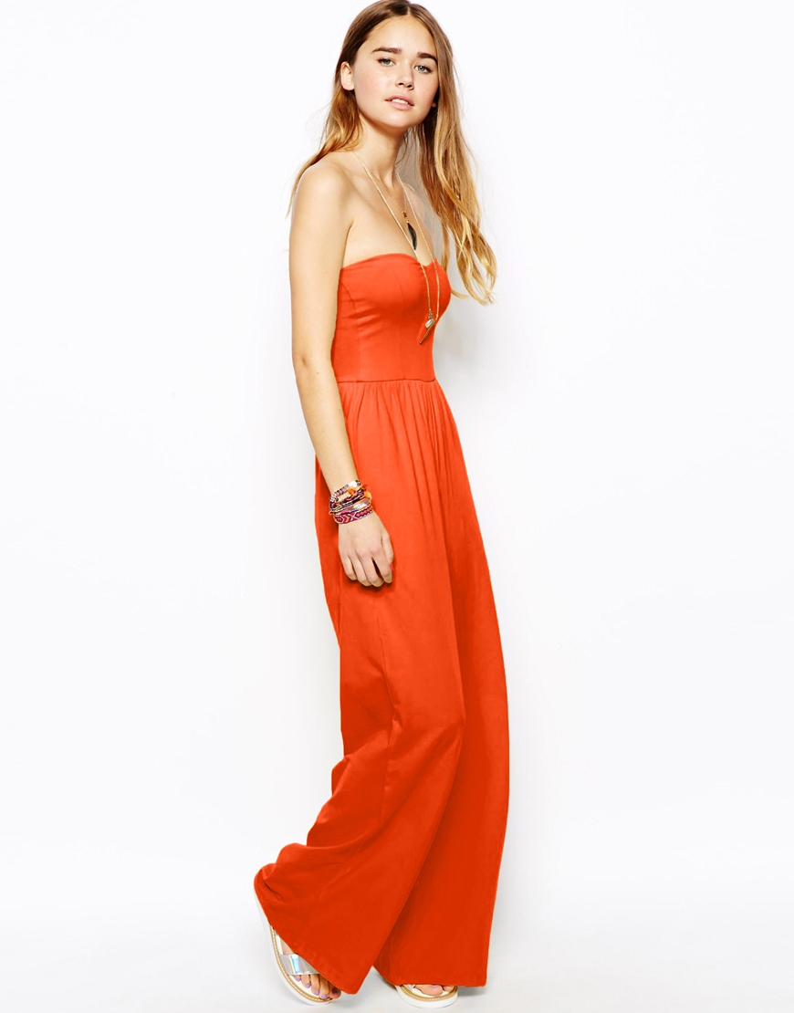 ASOS Bandeau jumpsuit with wide leg. ASOS. $47.64.