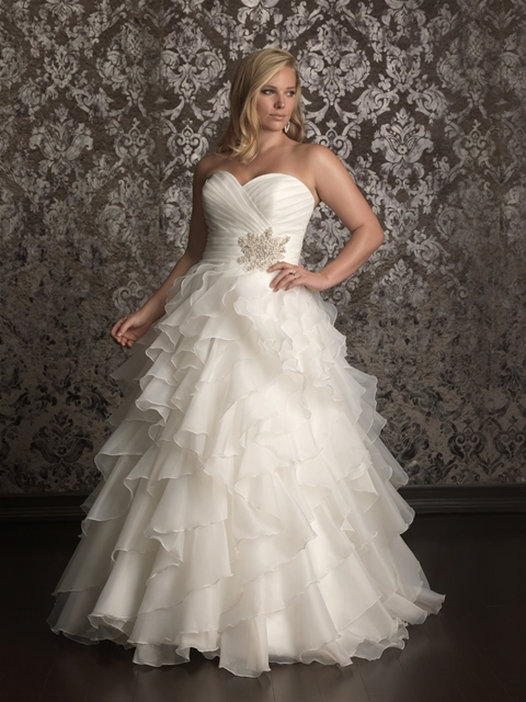 Organza Gown Style W314. Allure Bridal. Price upon Request.