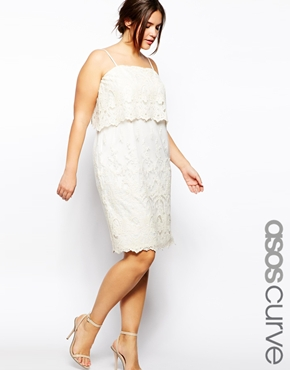 Asos Curve Cami dress with Lace Layers. ASOS.com. $76.22.
