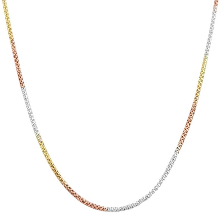 Fremada 14K Tri color gold over sterling silver popcorn necklace. Overstock.com. $12.59.  .