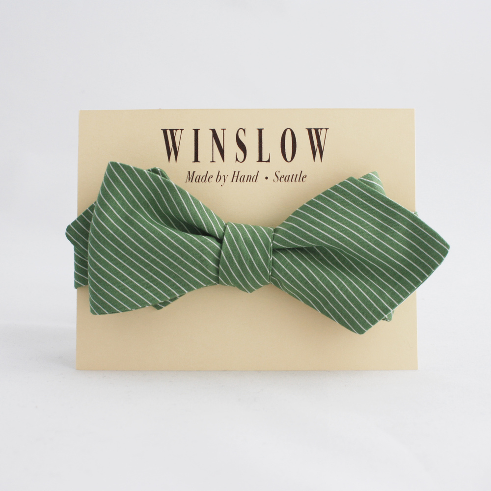 Winslow  handmade bow tie made from reclaimed fabric. Winslow. $45. Save 10% off with code: Poplin