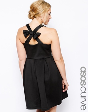 Asos Curve Bow Back Skater Dress. Available in plus sizes. Asos.com. $57.16.