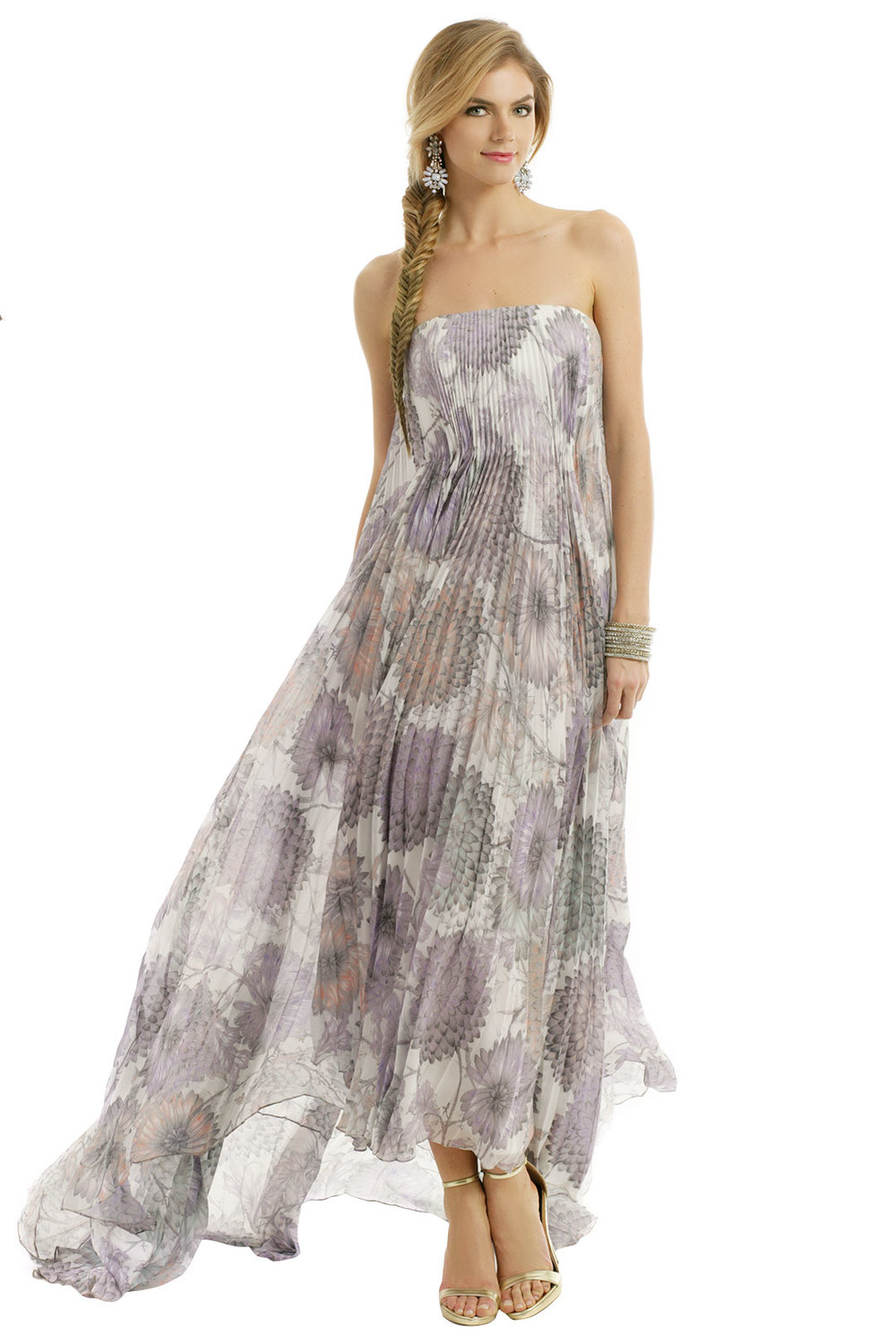 Heather floral printed maxi by Badgley Mischka. Rent the Runway. $160 rental.
