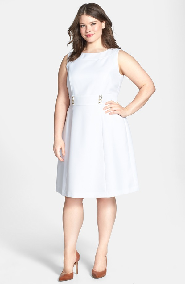 Textured Fit & Flare Dress. Nordstrom. $138.00.