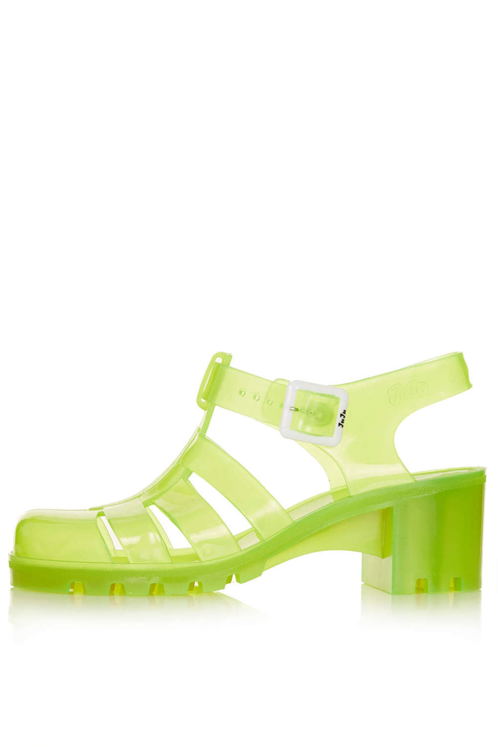 NINA Fluro Jelly Sandals. Topshop. $45. Just to be clear. I'm not telling you not to wear the heels with socks trend, just not those socks with these heels.