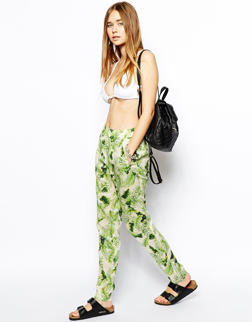 Tropical print beach pant. ASOS. Was: $47.64 Now: $28.58.