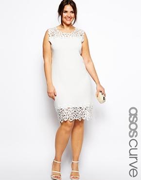 Shift Dress with Lace Trim. ASOS Curve. $85.74.