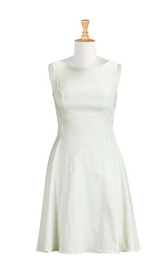 Summer White Cotton Sateen Dress. eShakti.com. $79.95.