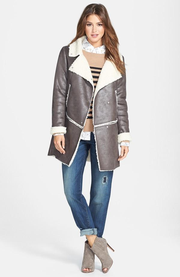 Kristen Blake Zip Off Hem Faux shearling coat. Nordstrom. Anniversary price: $119.90. After sale: $180.